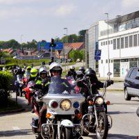 Tæt på 700 motorcyklister kørte til fordel for børn med cystisk fibrose
